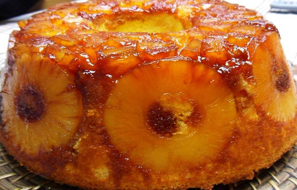 receita de bolo de ananas humido