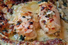 Bifes de frango com Cammembert