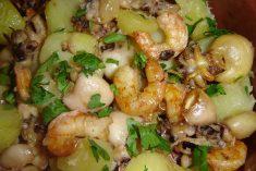 Choquinhos no forno com camarão
