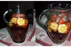 Sangria de Rosé com Morangos e Lima