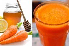 Mel cenoura e limão o xarope caseiro que elimina tosse, gripe e limpa o catarro dos pulmões