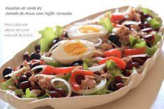 Salada de Atum com Feijão Vermelho