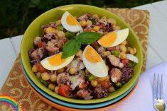 Salada de Polvo e Grão-de-Bico