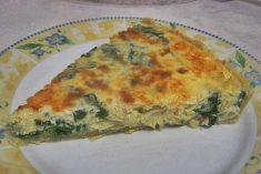 Tarte de Espinafres e Bacalhau