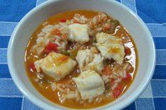 Arroz de Peixe com Tomate e Pimento