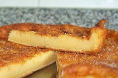 Tarte de Leite receita rápida fácil e deliciosa