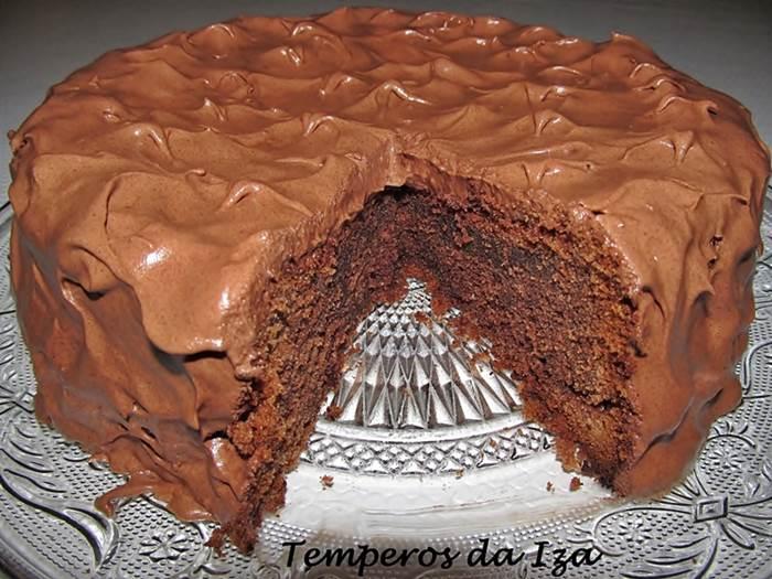Bolo de Mousse de Chocolate Instantânea