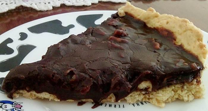 Tarte de chocolate e nozes
