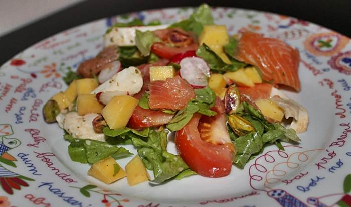 Salada fresca de Verão