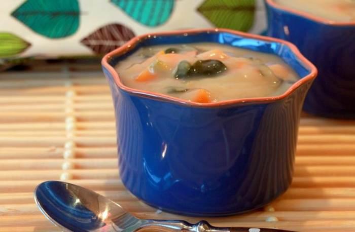 Sopa de Couve-flor com Cenoura e Espinafres