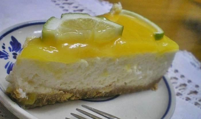 Receita Cheesecake de Coco e Limão