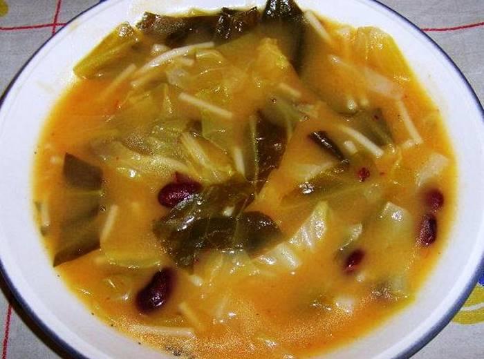 Receita Sopa de feijão e legumes