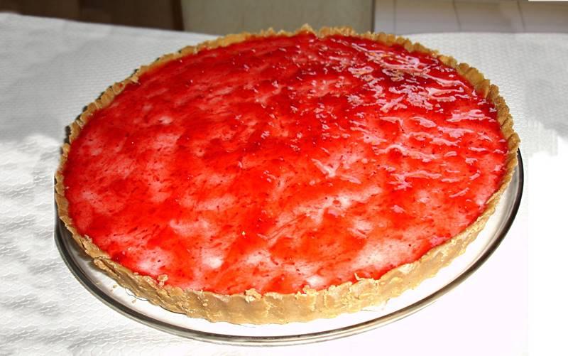 Receita fácil de Cheesecake de Morango