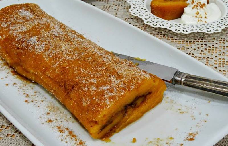 Torta de cenoura e canela