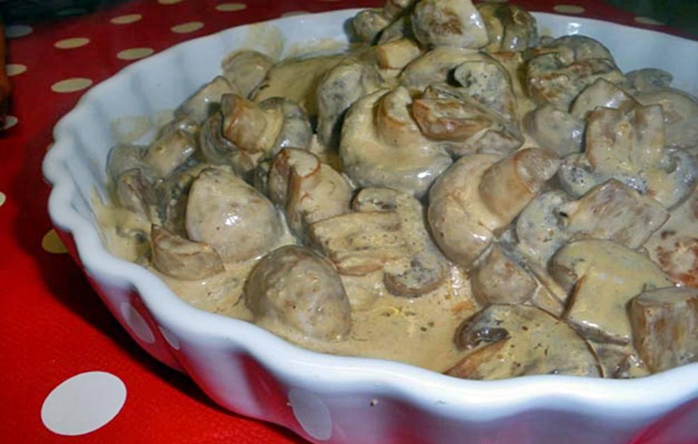 Bifinhos de perú com Natas e Cogumelos